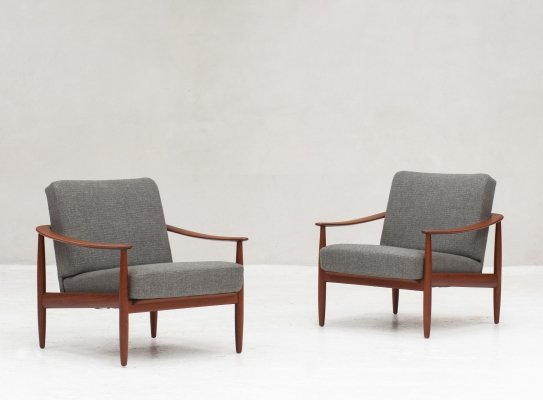 Pair of easy chairs designed & produced by Walter Knoll, Germany 1960s