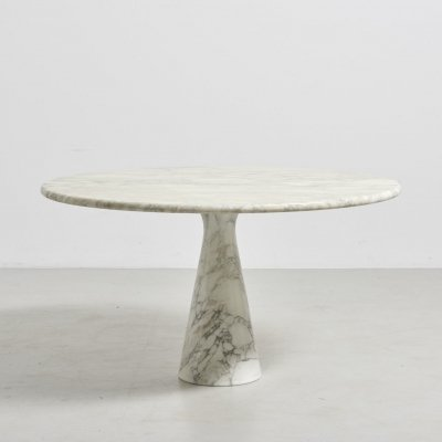 Pedestal Dining Table in Marble by Angelo Mangiarotti, Italy 1970's