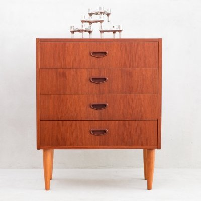 Danish chest of 4 drawers, 1970s