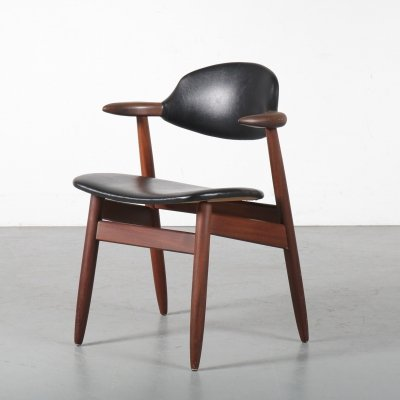 'Cowhorn' dining / desk chair by Tijsseling, the Netherlands 1950s