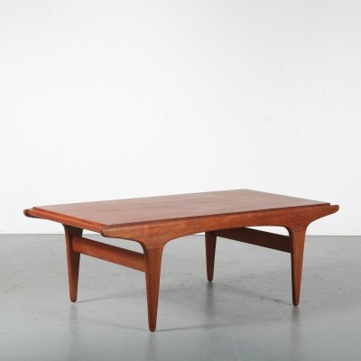 Dutch coffee table with reversible top, 1950s