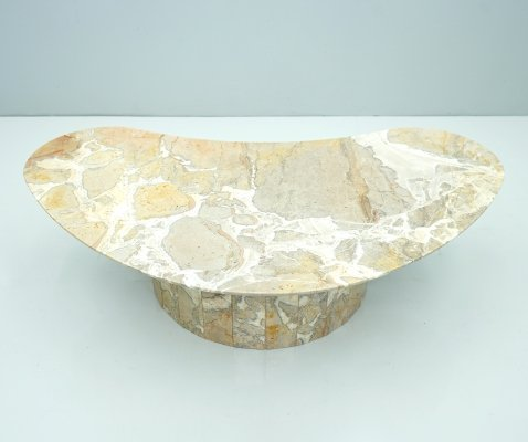 Boomerang Marble Coffee Table, 1950s