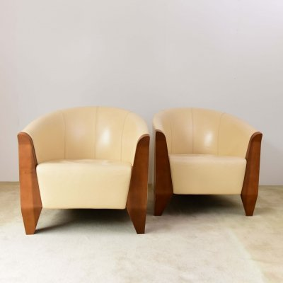 Cavatina armchairs designed by Bruno Reichlin for Molteni, circa 1990