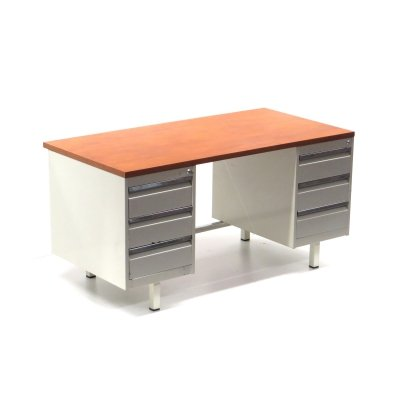 Vintage industrial metal desk from the 60s