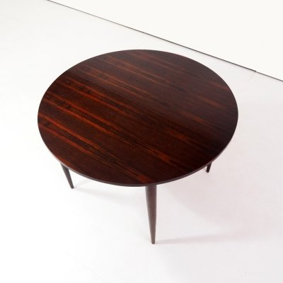 Rosewood extendable table by Werner Wölfer for V-Form, 1962