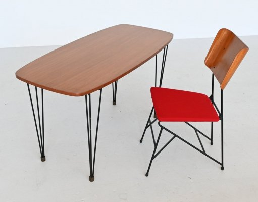 Carlo Ratti writing table set by Legni Curva, Italy 1950