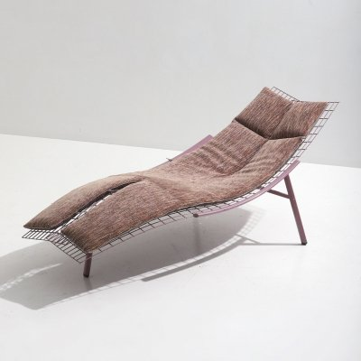 Swing Lounge Chair by Giovanni Offredi for Saporiti, 1980s