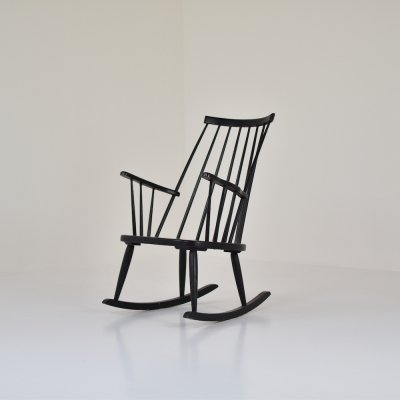 Rocking chair by Lena Larsson for Nesto, Sweden 1960's