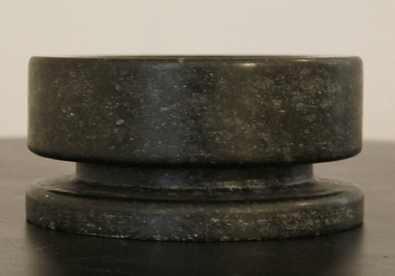 Italian Black Marble Cup/Ashtray by Angelo Mangiarotti, 1970s