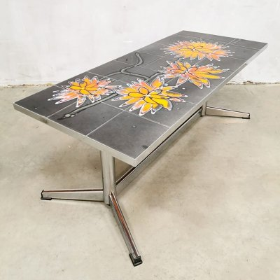 Vintage design tile coffee table, 1960s