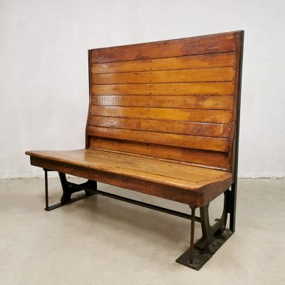 Art deco Industrial tram bench, 1930s