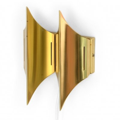 Double wall light/sconce 'Gothic II' by Bent Karlby for Lyfa, Denmark 1960s