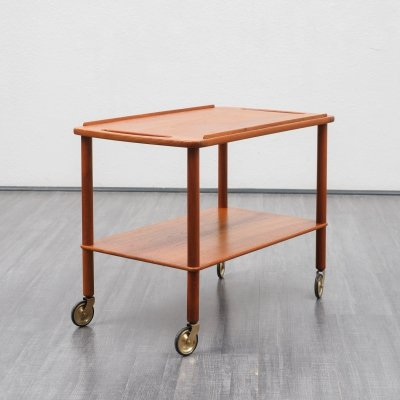 Mid-Century Scandinavian style teak serving trolley, 1960s