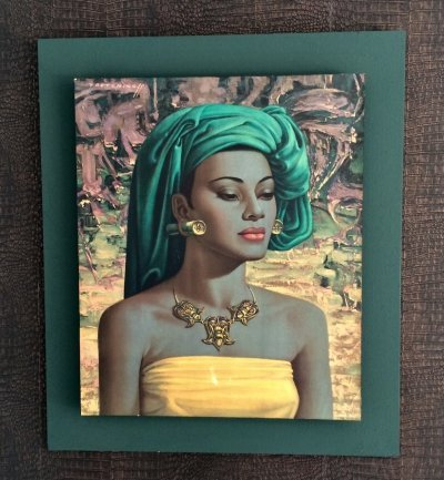 Iconic Midcentury Framed 'Balinese Girl' Art Print by Vladimir Tretchikoff, 1960s