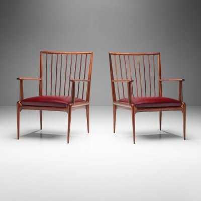 Pair of Mid-Century Chairs by Branco & Preto, Brazil 1950s