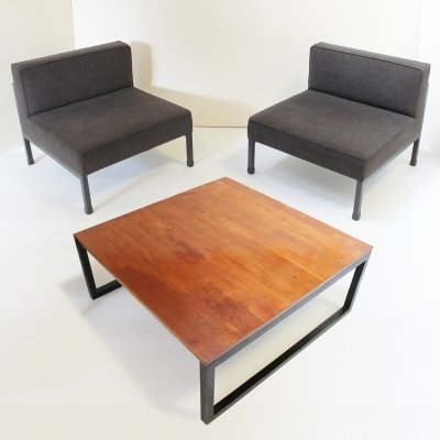 Coffee table & 2 Armchairs by Wim den Boon, Netherlands 1958