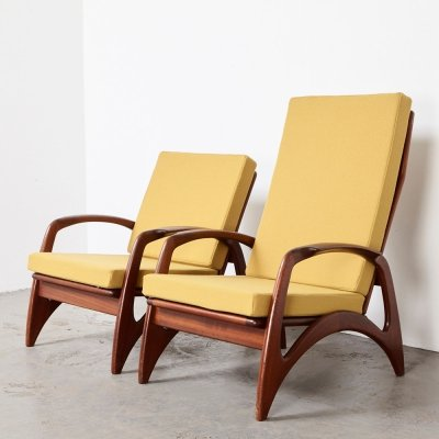 Pair of Easy Chairs by De Ster Gelderland, 1950s