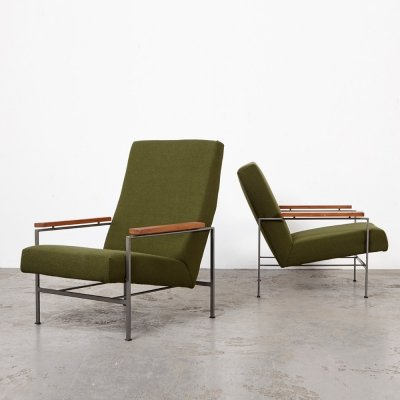 Pair of Rob Parry Lounge Chairs for Gelderland, 1960s