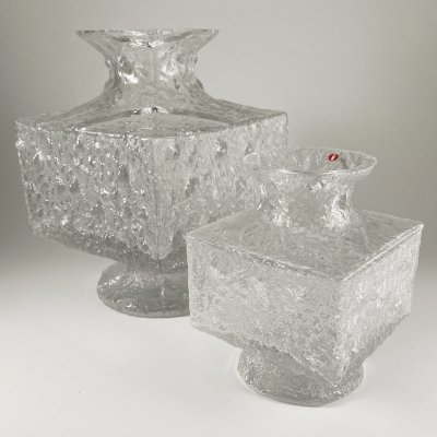 Vintage glass 'Crocus' vases by Timo Sarpaneva for Iittala