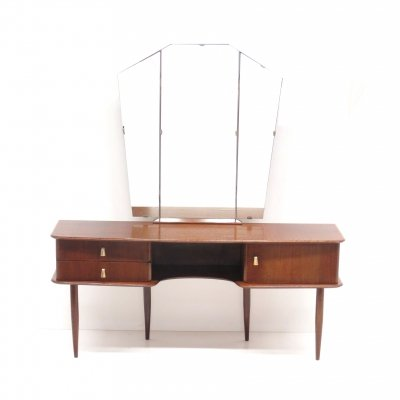 Vintage dressing table with folding mirror, 1950s