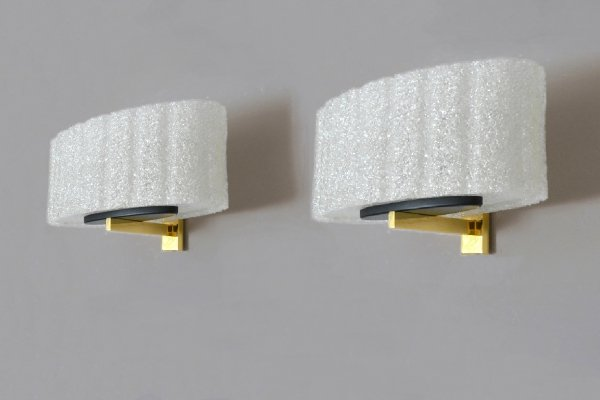 Pair of Maison Arlus wall lamps, 1960s