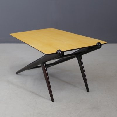 MidCentury Coffee table in ebonized wood by ISA Bergamo, 1950s