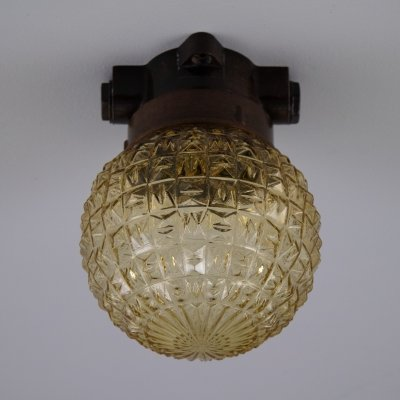 Retro Czech golden wall lighting, 1960s