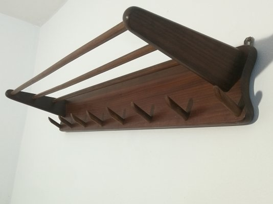 Wooden coat rack, 1960s