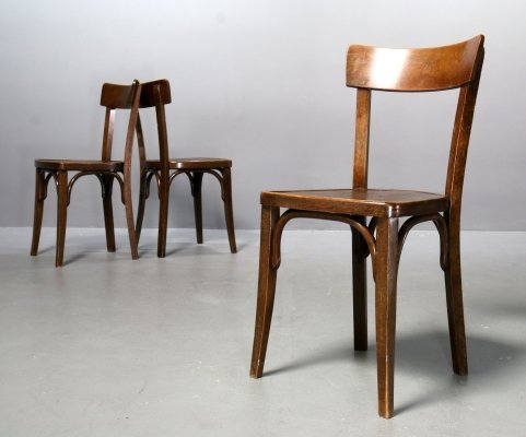 3 x Thonet dining chair, 1930s