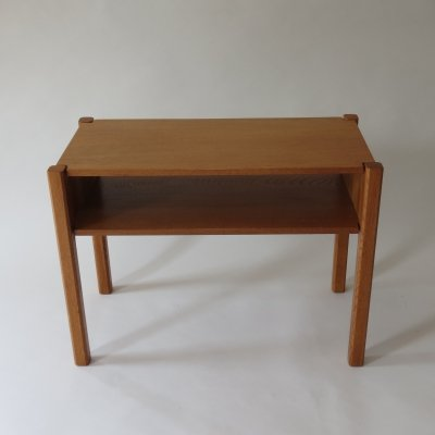 1960s Oak Side Table / Bedside Table by Paul Litton With Dovetail Joint Detail