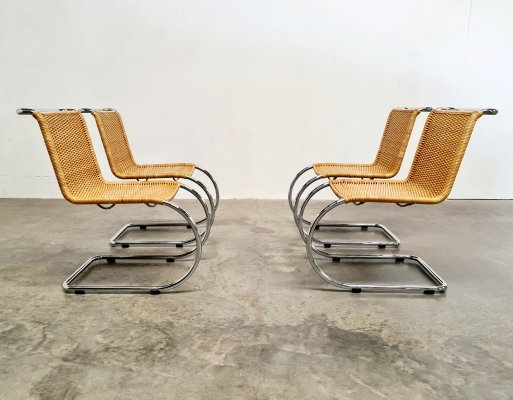 Set of 4 Mies van der Rohe MR10 chairs, 1970s