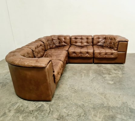 De Sede DS11 sectional patchwork sofa, 1970s