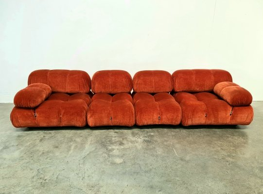 Camaleonda sofa by Mario Bellini for B&B Italia in original red/orange fabric