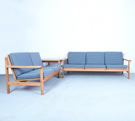 Danish design oak sofa set with corner table by Laboremus, 1960's
