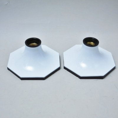Pair of Mattonella wall lamps by Motoko Ishii for Staff, 1970s