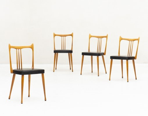 Set of 4 dining chairs, the Netherlands 1960s