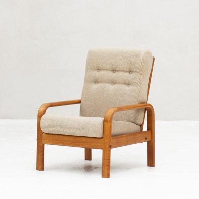 Highback easy chair produced in Denmark, 1960's