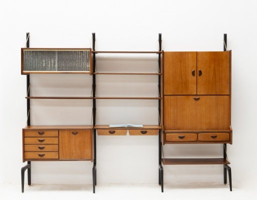 3-piece wall unit by Louis van Teeffelen for Wébé, 1950s