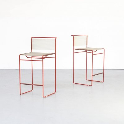 Pair of Giandomenico Belotti spaghetti stools for Fly Line, 1970s