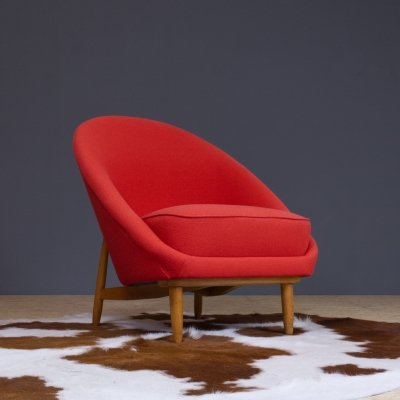 Theo Ruth club chair in red for Artifort, The Netherlands 1958