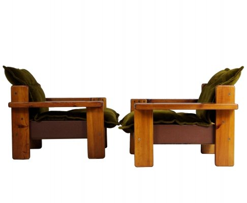 Pair of Czech Club Chairs, 1970s