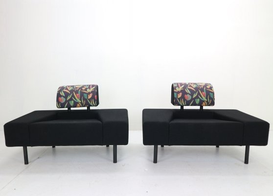 Pair of 'Pouffe Garni' Lounge Chairs by Rob Eckhardt for Pastoe, 1986