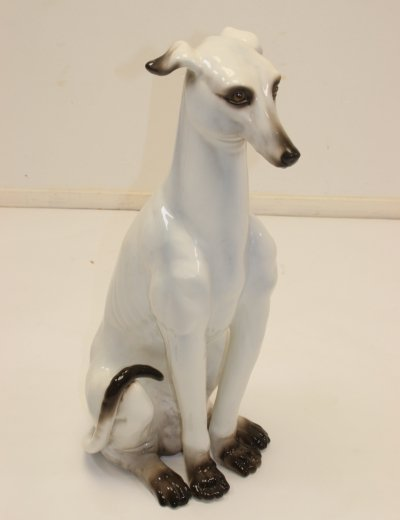 Italian Vintage Ceramic Haze Greyhound, 1970