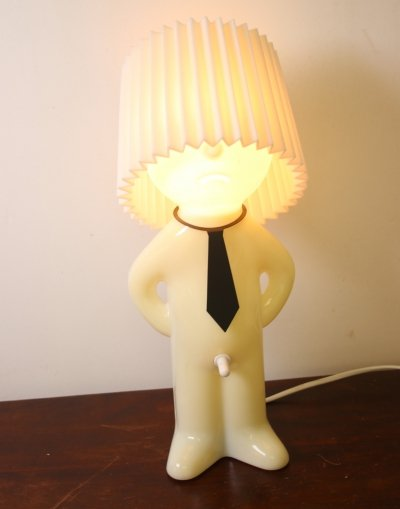 Mr. P night light table lamp with an exciting on / off button