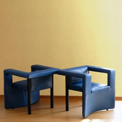 Pair of DS 206/11 postmodern armchairs by Paolo Piva for De Sede, 1989