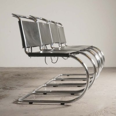 4 MR10 chairs by Mies van der Rohe for Knoll, ca 1970