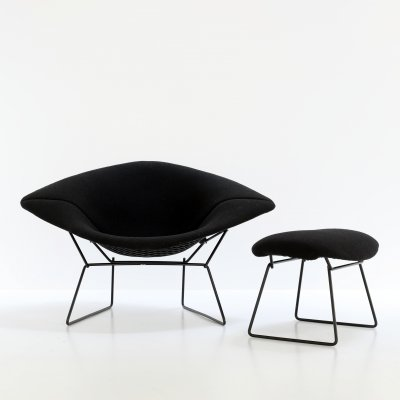 Large Diamond lounge chair by Harry Bertoia for Knoll, 1990s