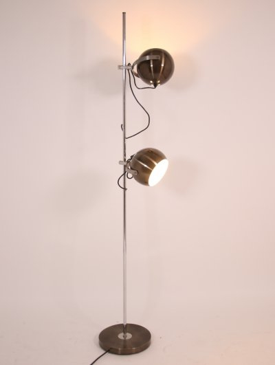 Herda chrome floor lamp with adjustable eyeball lights