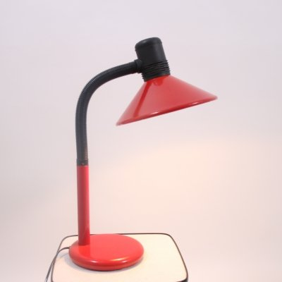 Large Red & Black Desk Lamp, 1970