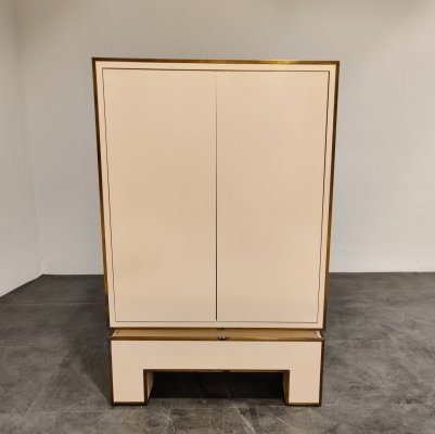 White lacquered cabinet by Alain Delon, 1970s